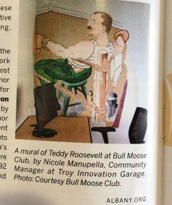 mural of teddy roosevelt
