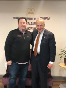 U.S. Senator Chuck Schumer for visiting taking photo with Tom